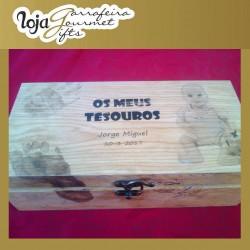 WM Caixa Madeira Os meus tesouros Personalizada