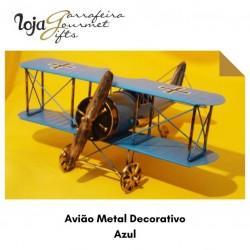 Avião Metal Decorativo