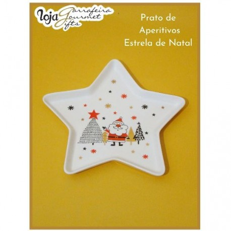 Prato Aperitivos Estrela de Natal