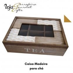 Caixa Madeira p/ Chá