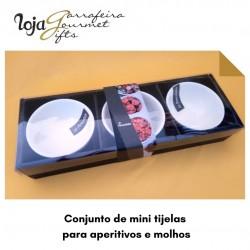 Conjunto de mini tijelas para aperitivos e molhos