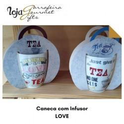 Caneca Cerâmica TEA + Difusor