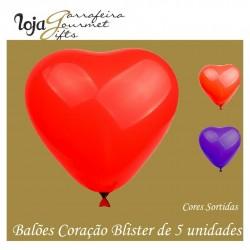 Balões Coração 5 Sortidos