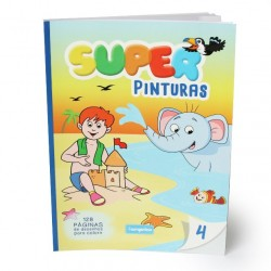Livro Infantil Super Pinturas 128p