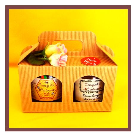 Caixa para 2 frascos mel doce