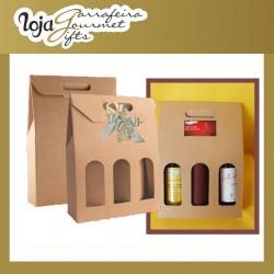 Caixa Kraft 3 Garrafas c/ Jan