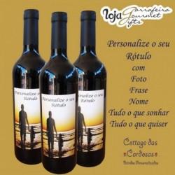 Vinho Comenda SanTiago Rótulo Personalizado Duplo (formato Landscape)
