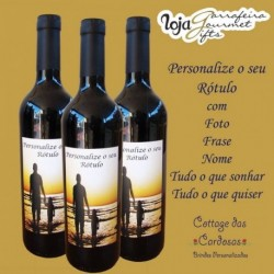 Vinho Licoroso Dona Elvira Rótulo Personalizado (formato Landscape)